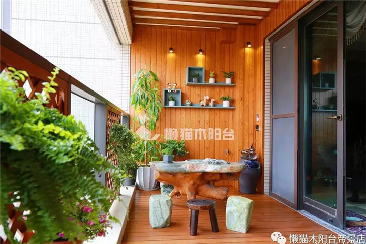 阳台变茶室