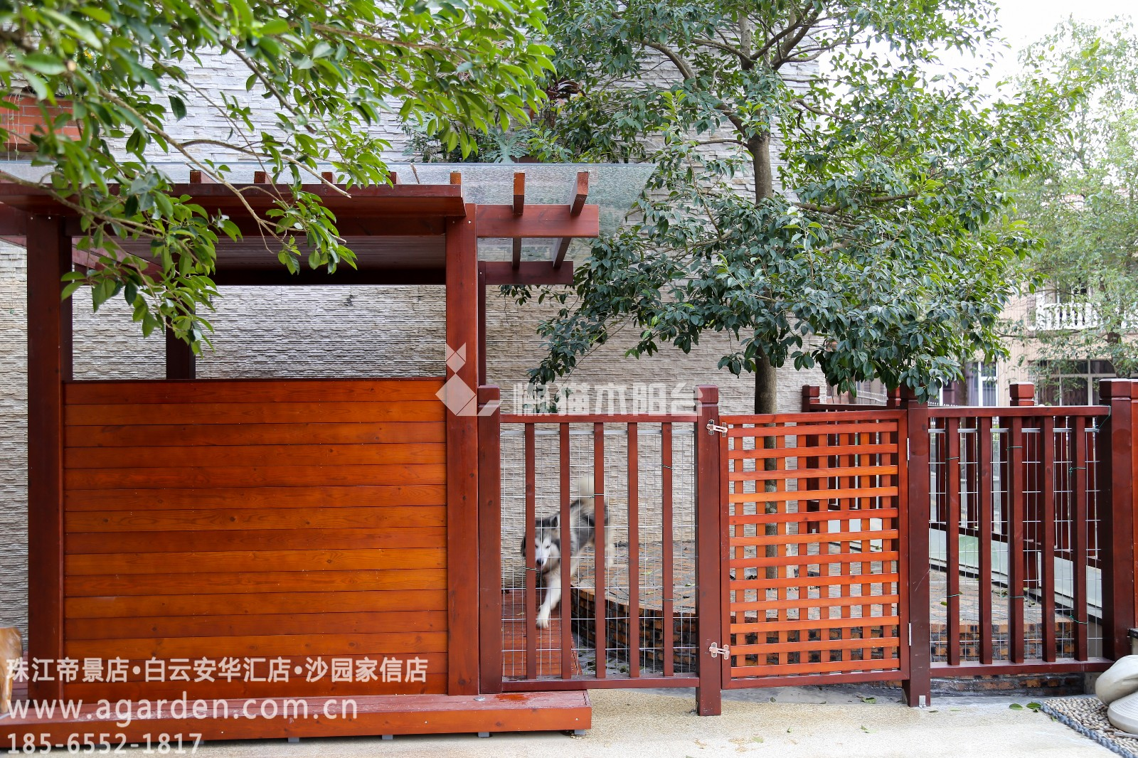 庭院防腐木门